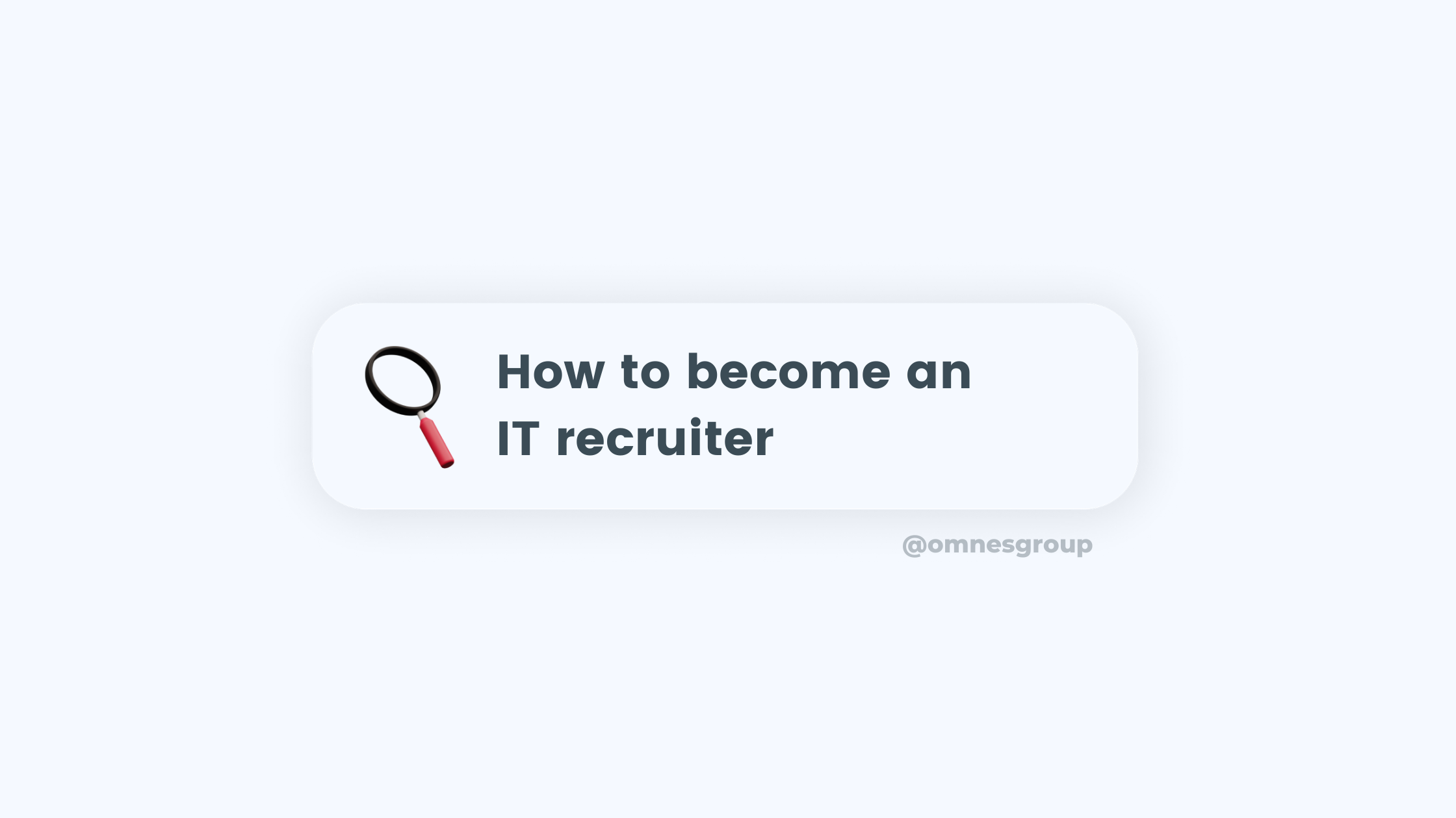 become an it recruiter