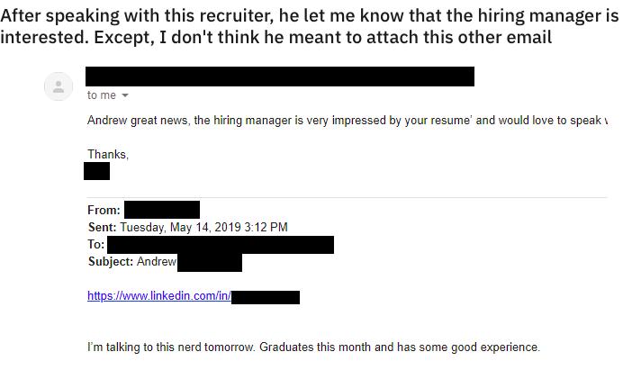 email recruiter