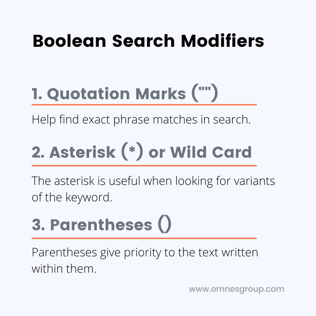 boolean search modifiers