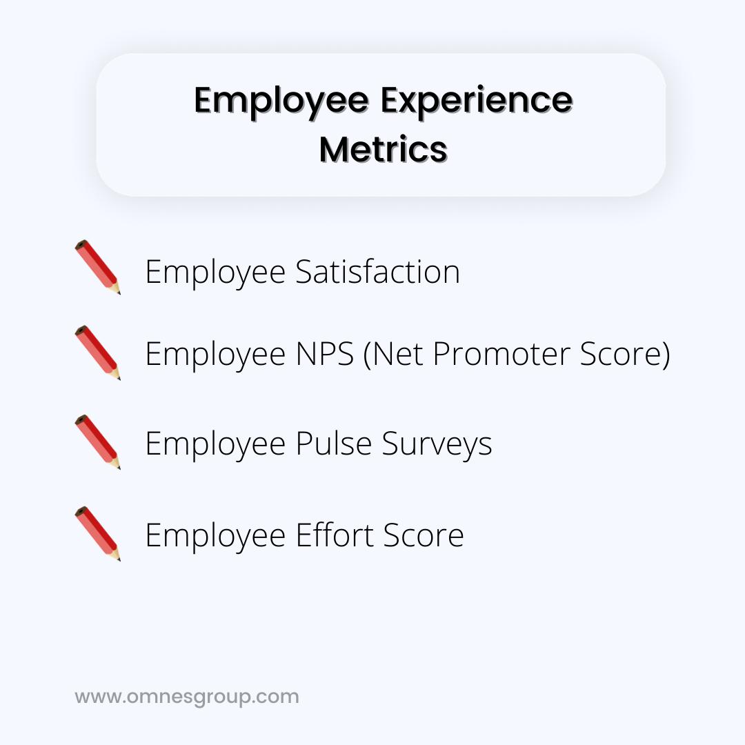 employee experience metrics