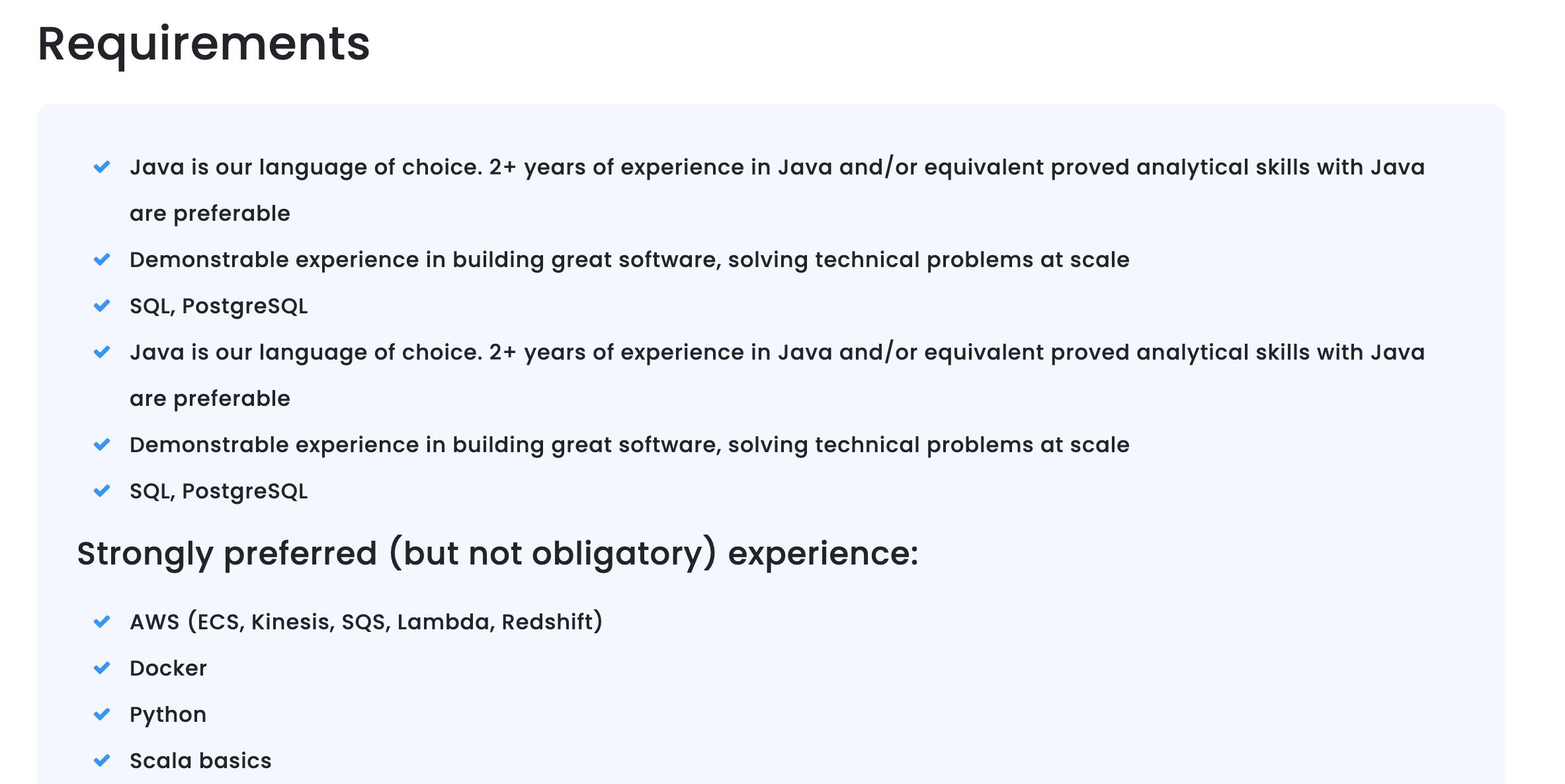 java developer job description template
